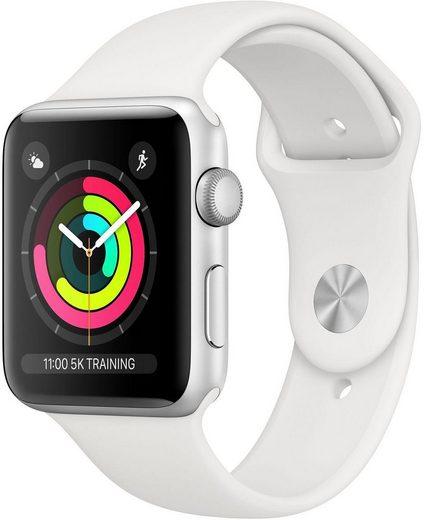 Apple Watch Series 3 GPS, Aluminiumgehäuse mit Sportarmband in weiß bei Otto.de