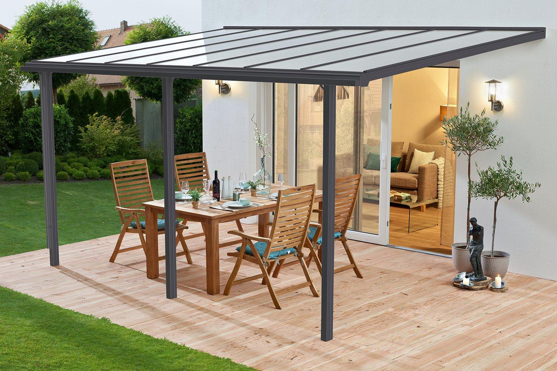 [Amazon] Beckmann Terrassen-Überdachung Trend 435 x 300 cm Größe 4 Anthrazitgrau RAL 7016
