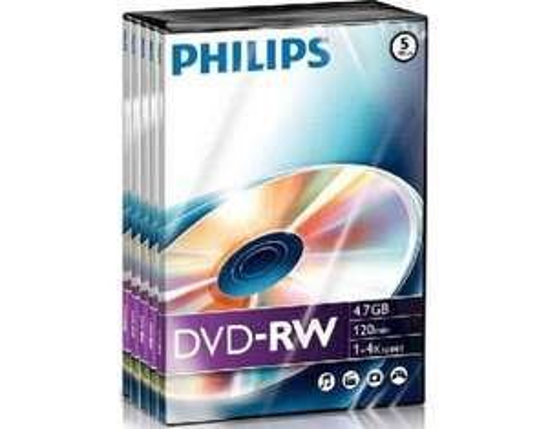 5 x Philips DVD-RW 4.7GB 3,99€ inkl. VK