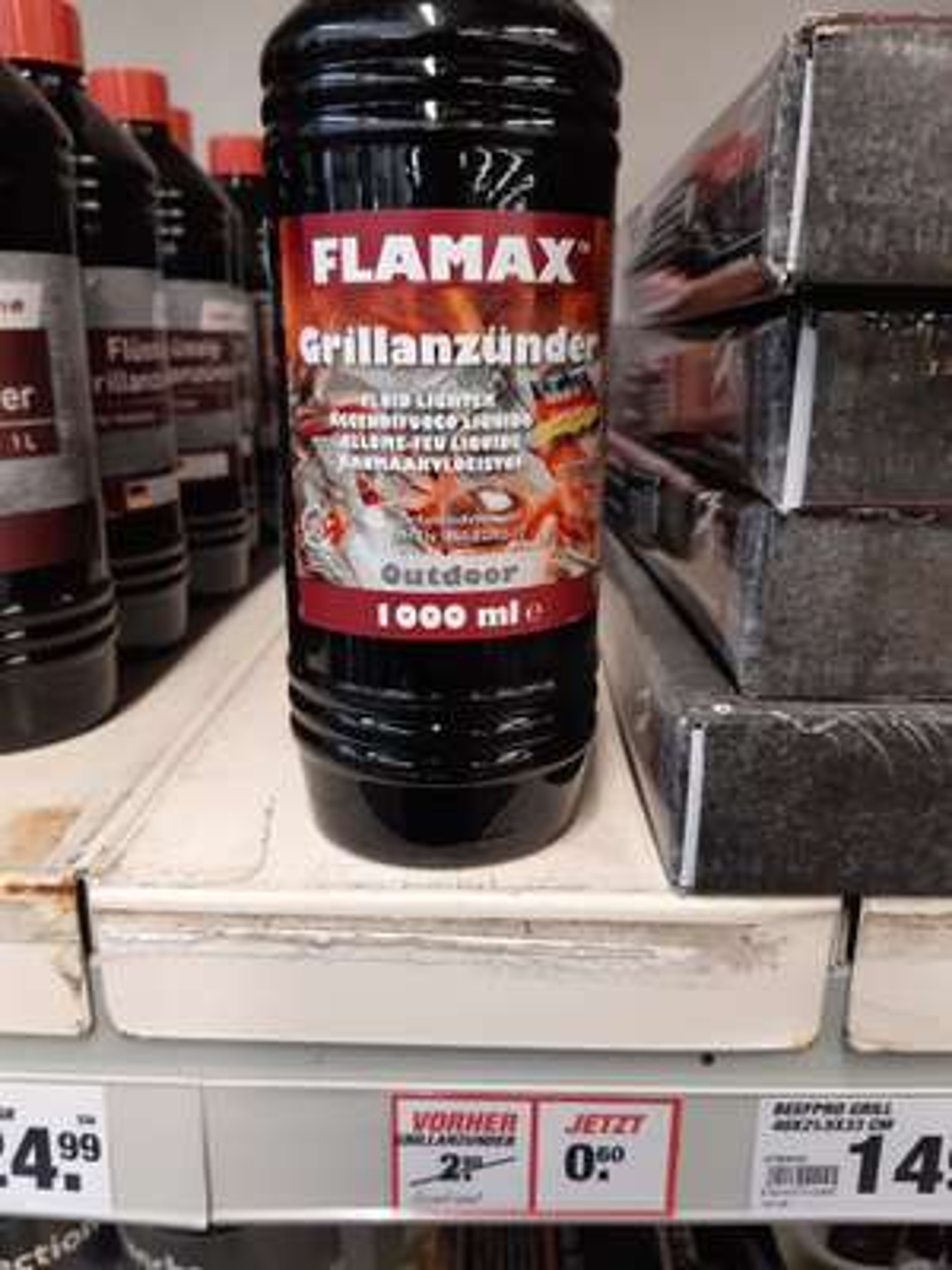 FLAMAX Grillanzünder flüssig, (lokal toom Duisburg Reinhauen)