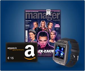 [WEBCENTS / WEB.DE / GMX] - 3 Monate Manager Magazin für 17,90 Euro incl. 15 Euro Amazon GS und 1250 Webcents