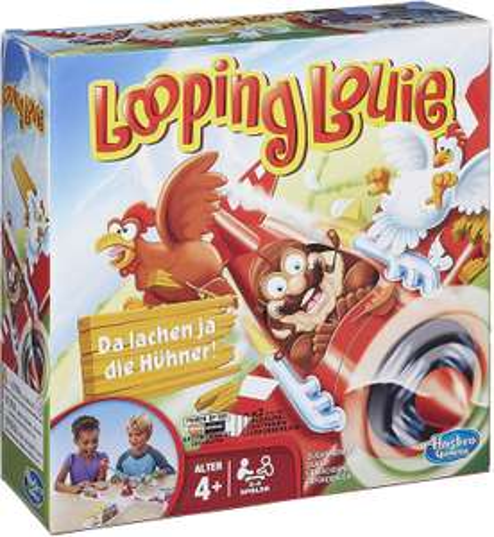 [Amazon Prime] Hasbro Looping Louie Kinderspiel, für Kinder & Erwachsene, 2-4 Spieler, ab 4 Jahren