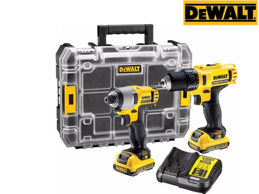 """DeWalt 10.8V-Set """"DCK211D2T"""" (Schlagschrauber, Bohrschrauber, 2x 2Ah-Akku, Ladegerät, TSTAK-Koffer) [iBOOD]"""