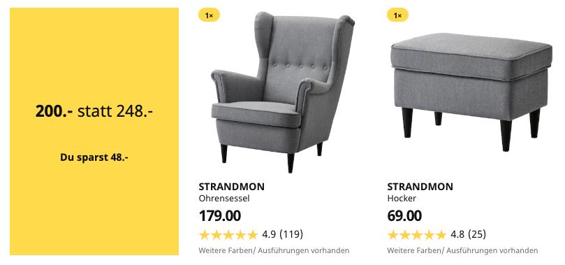 [Lokal] IKEA Ohrensessel STRANDMON mit Hocker (IKEA Family / Berlin-Lichtenberg)