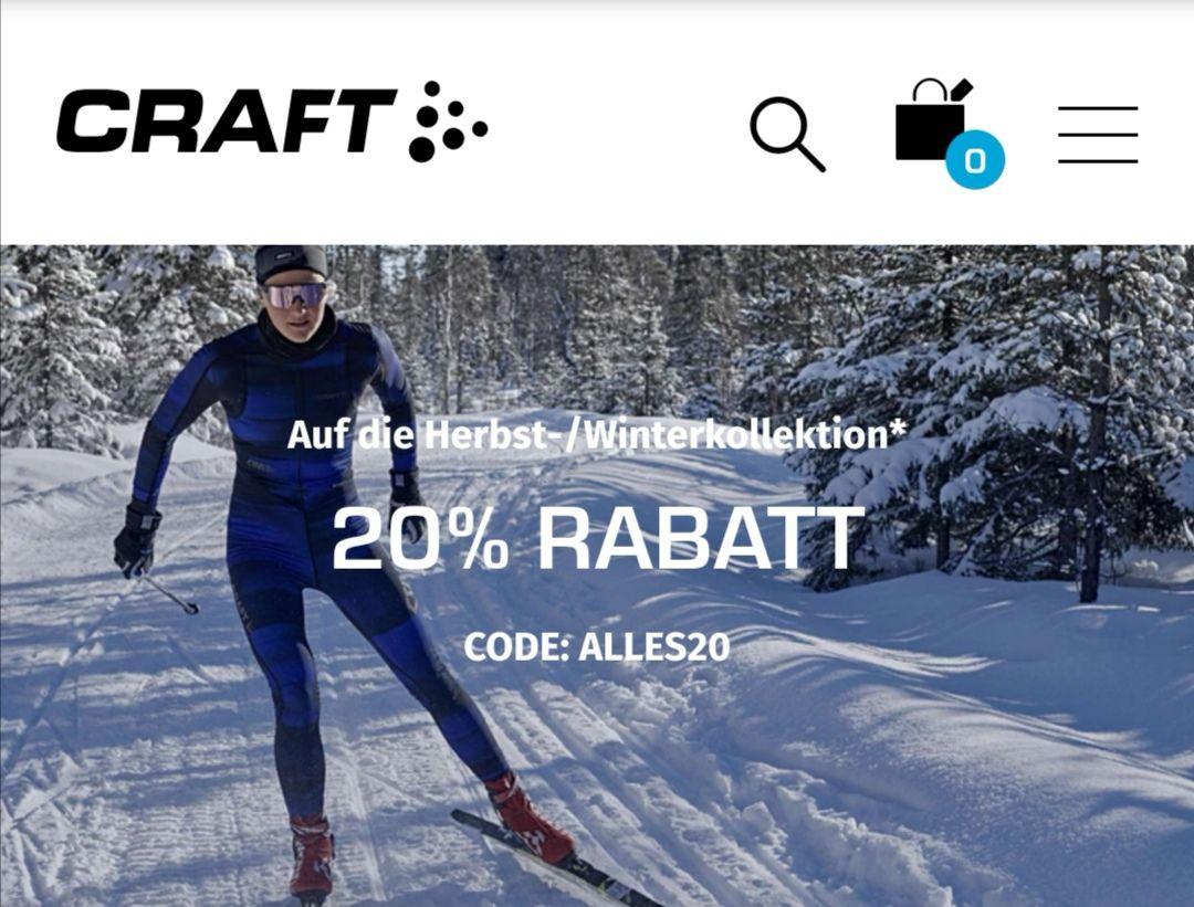CRAFT 20% auf die Herbst-/Winterkollektion