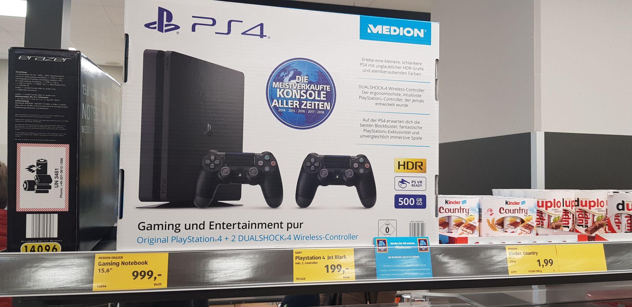 Playstation 4 Jet-black 500GB ink.2 controller