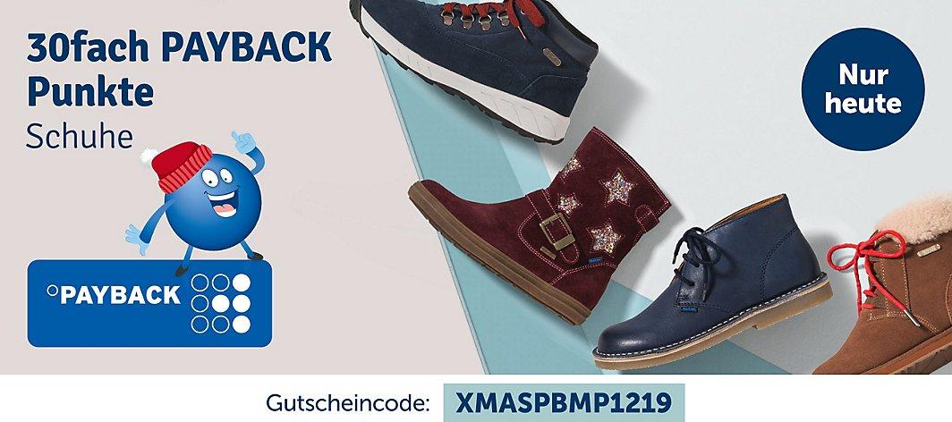 [myToys] Heute gibt es 30-FACH PayBack bei Schuhen mit dem Gutscheincode XMASPBMP1219 MBW 15€
