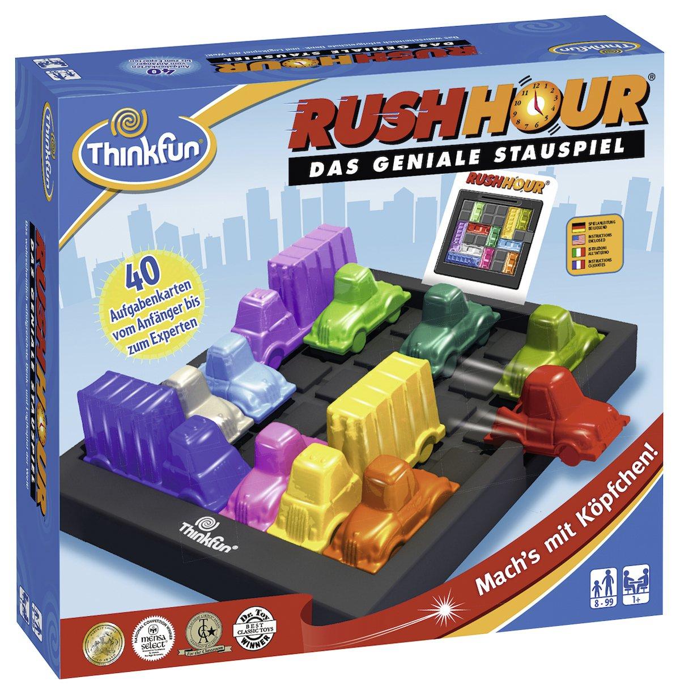 [Amazon Prime] ThinkFun 76301 - Rush Hour - Das geniale Stauspiel, Konzentrationsspiel, ab 8 Jahren