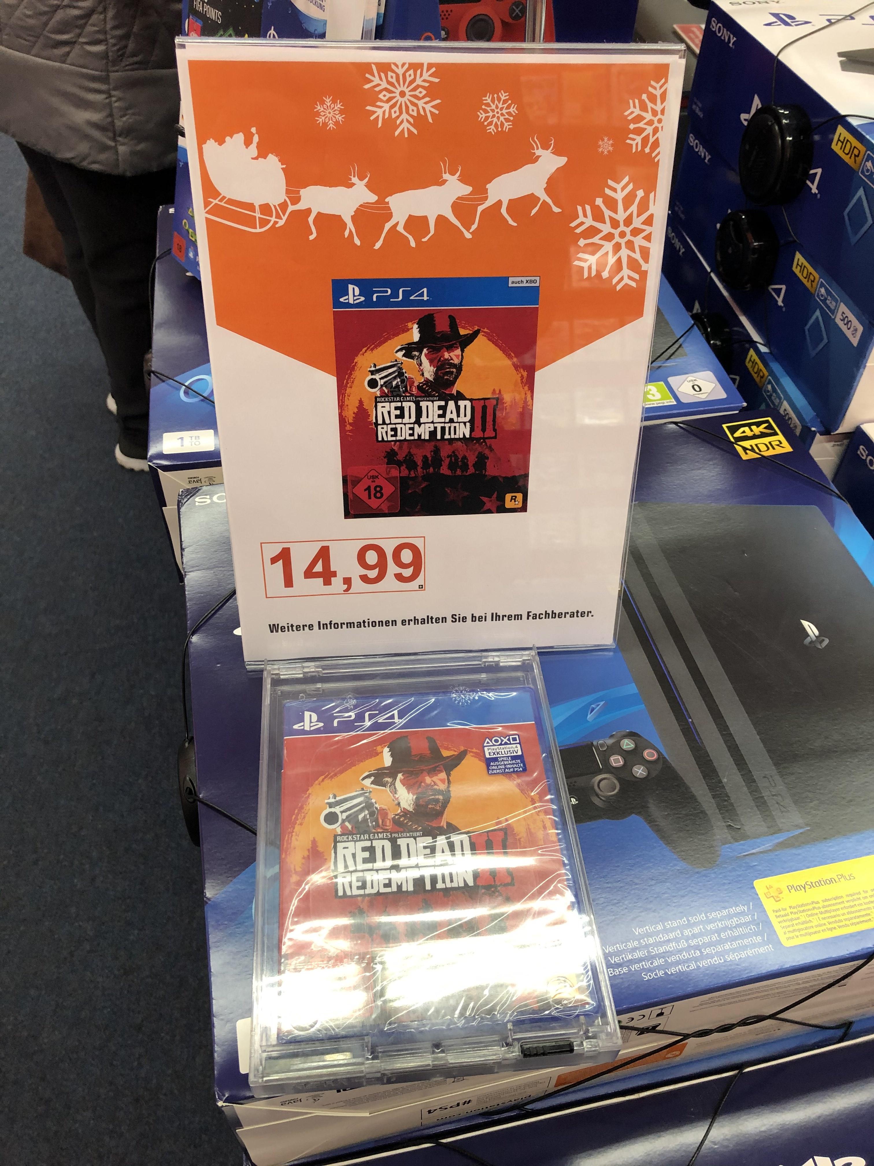 [Lokal Saturn Berlin Köpenick] Red Dead Redemption 2 II - PS4 Playsation 4 und Xbox One je 14,99€