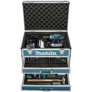 Makita Schrauber DF457DWEX6 2x1,3 Ah + 102 tlg Zub. + Koffer für 209,95€