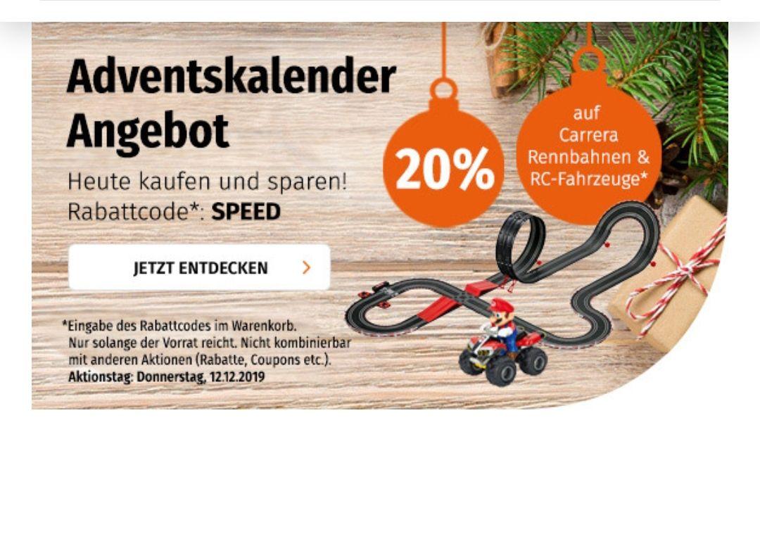 20% auf Carrera mit Müller Adventkalender