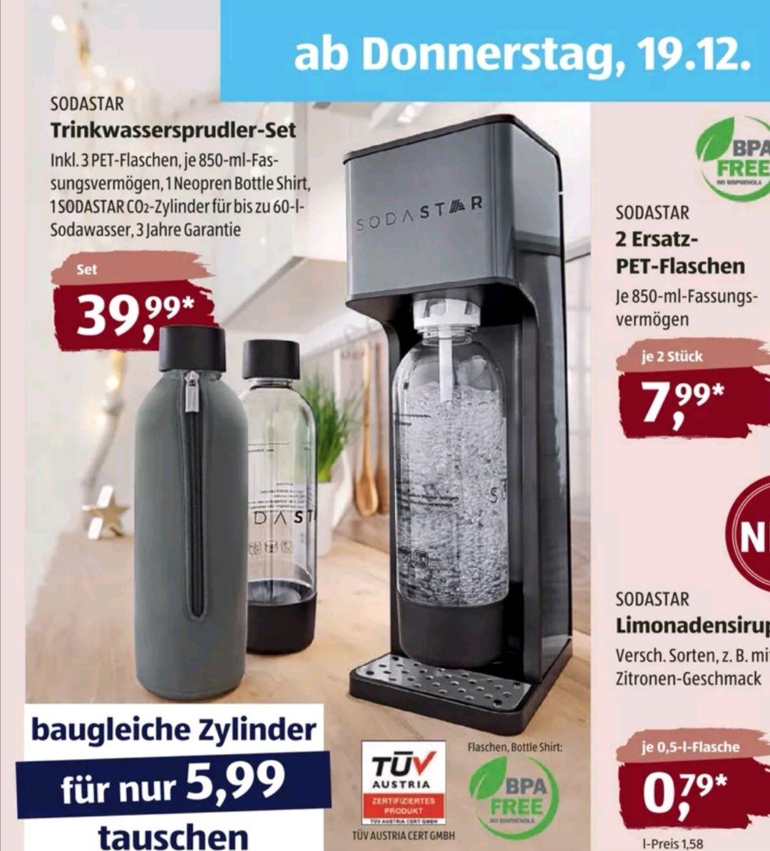 SODASTAR Trinkwassersprudler-Set bei Aldi Süd ab 19.12.