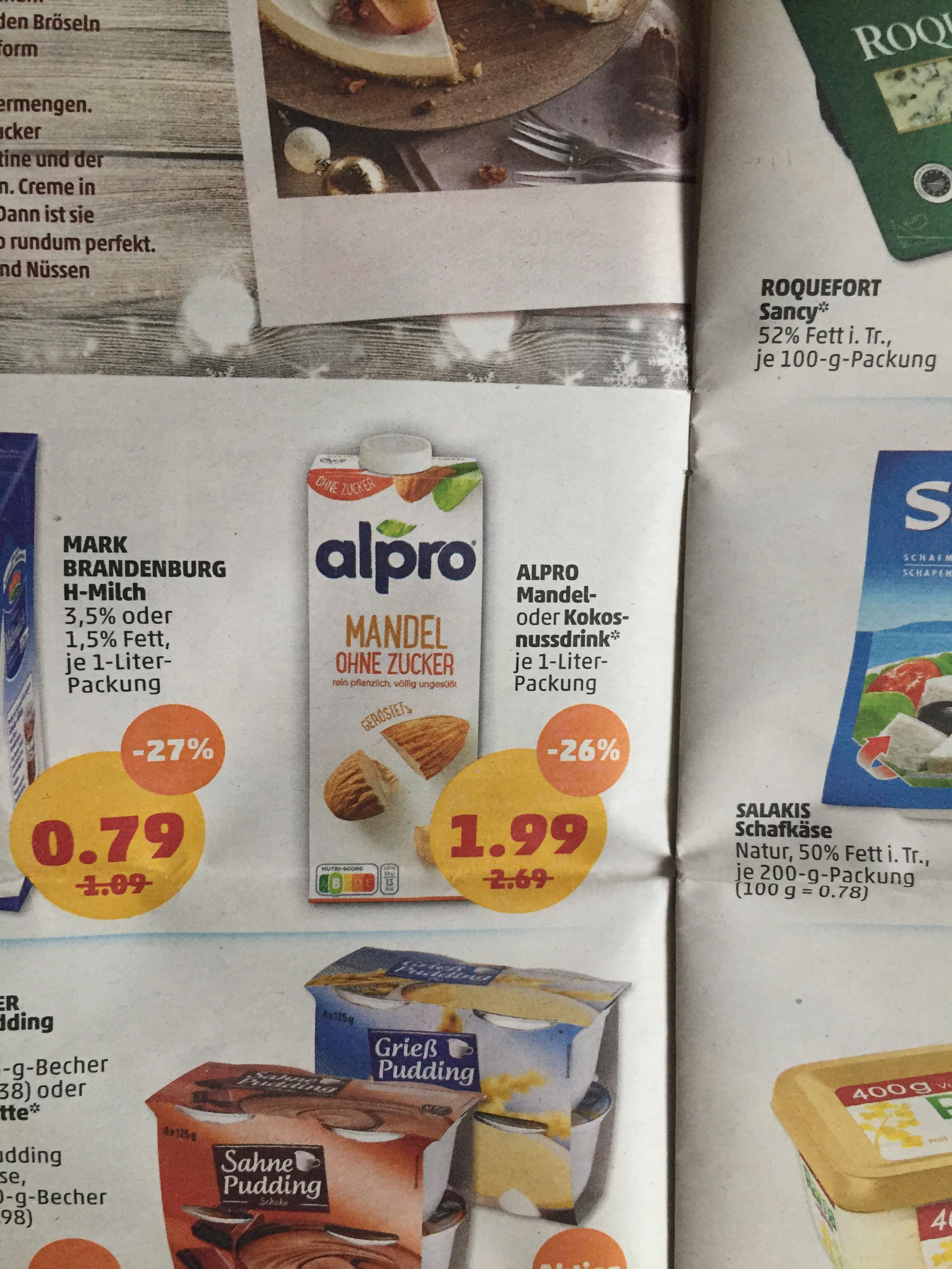 ~Penny~ {Ab dem 16.12.} ALPRO Mandeldrink im Angebot und Coupies gibt 0,50€ Cashback