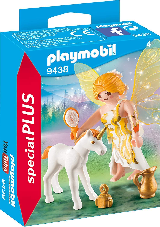 [Amazon Prime] 9438 - Sonnenfee mit Einhornfohlen Spiel, ab 4 Jahren o. Playmobil 70025 Figures Boy