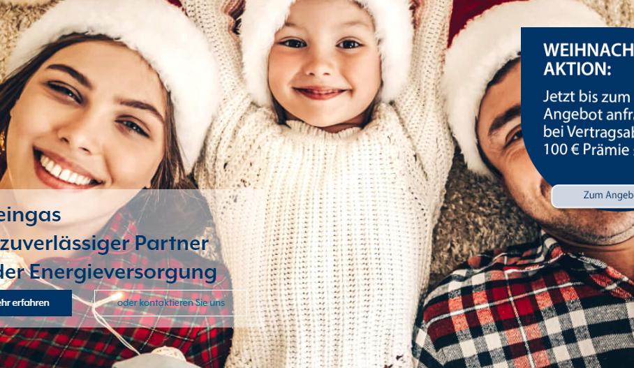 Weihnachtsaktion 2019 bei Rheingas 100€ Prämie