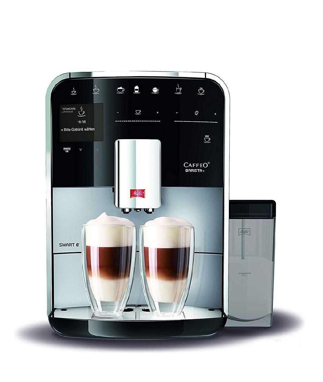 Amazon Prime - Melitta Caffeo Barista T Smart F830-101, Kaffeevollautomat mit Milchbehälter ( Ohne Milchbehälter 629,99€ )