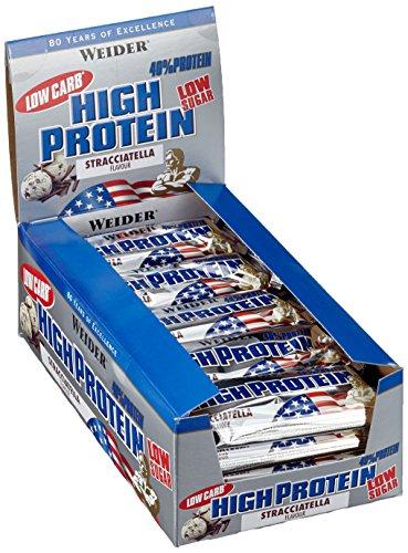 [Preisfehler] Weider 40% Protein Bar, Stracciatella, 1er Pack (20x 100g Riegel)