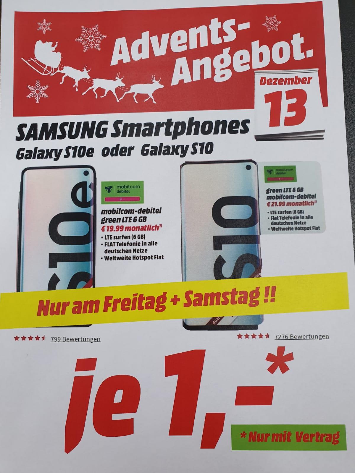 Samsung Galaxy S10 im Mobilcom Debitel Tarif (Holzminden)