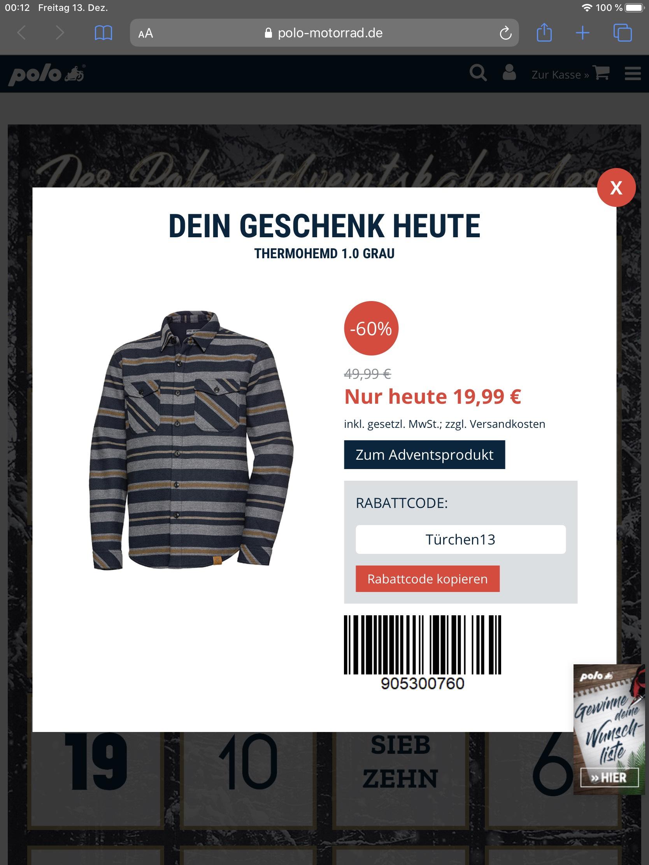 Thermohemd für knapp 20€ bei Polo