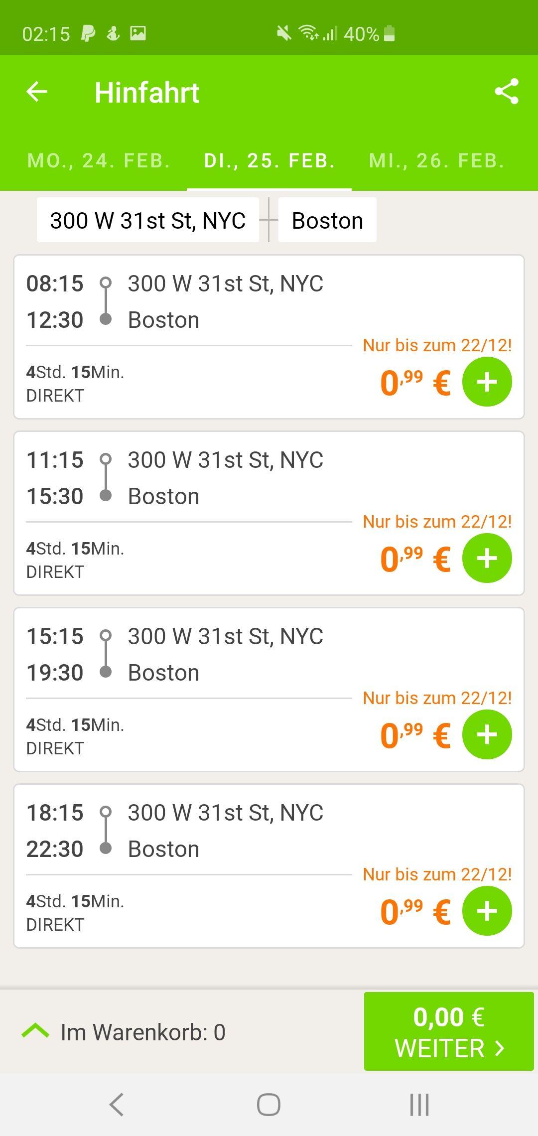 Flixbusfahrten ab 6.1.2020 in den USA 0,99€!!!