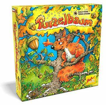 (Prime/Blitzangebot) Zoch Purzelbaum dreidimensionales Geschicklichkeits- und Memoryspiel, mit Holzbaum und Nüssen, 2-4 Spieler, ab 4 Jahren