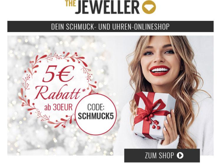 5€ für Schmuck bei The Jeweller MBW 30€