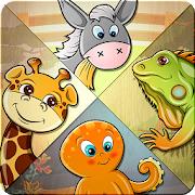 [Google Play Store / Android] Kinder-Puzzle - lernen 82 Tier, Geduldsspiele/Denkspiele (4,6 Sterne, 10.000+ Downloads) / Verbinde die Punkte