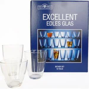 Van Well Excellent Gläser-Set 18-teilig für 5€ (Müller)