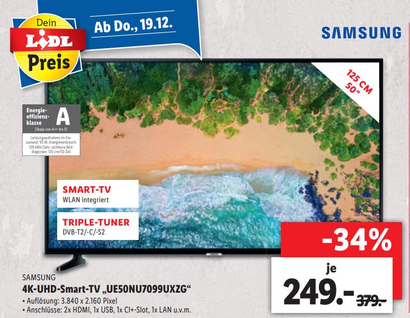 (Lokal Mönchengladbach-Giesenkirchen) Samsung UE50NU7099