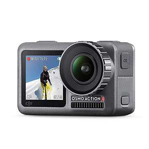 [Amazon] DJI Osmo Action Cam Digitale Actionkamera mit 2 Bildschirmen + Action Part12 Waterproof Case, schwarz/transparent