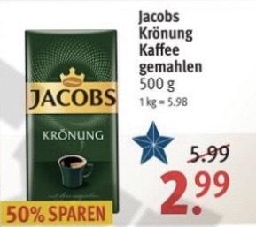 Jacobs Krönung Kaffee gemahlen 500g