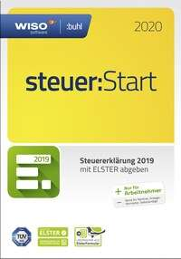 WISO steuer:Start 2020 - Steuererklärung 2019 mit ELSTER abgeben für eff. 8.51 € bei Thalia