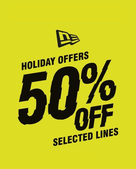 Holiday Offers bei New Era   50% auf verschiedene NFL Lines