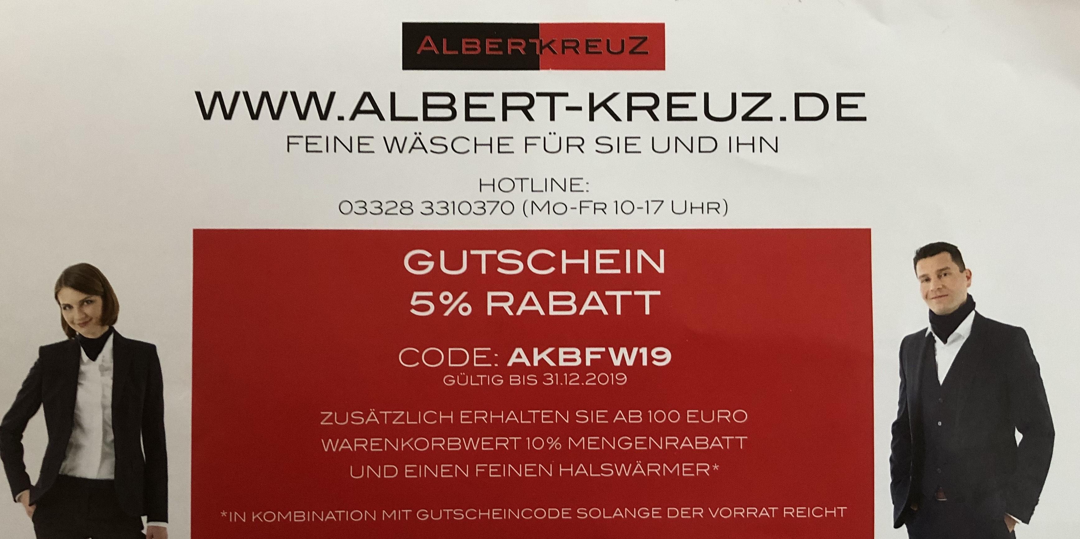 5% bei Albert Kreuz