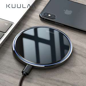 10W Qi Wireless Charger For iPhone X/XS Max XR 8 Plus Mirror Wireless Charging Pad For Samsung S9 S10+ Note 9 8