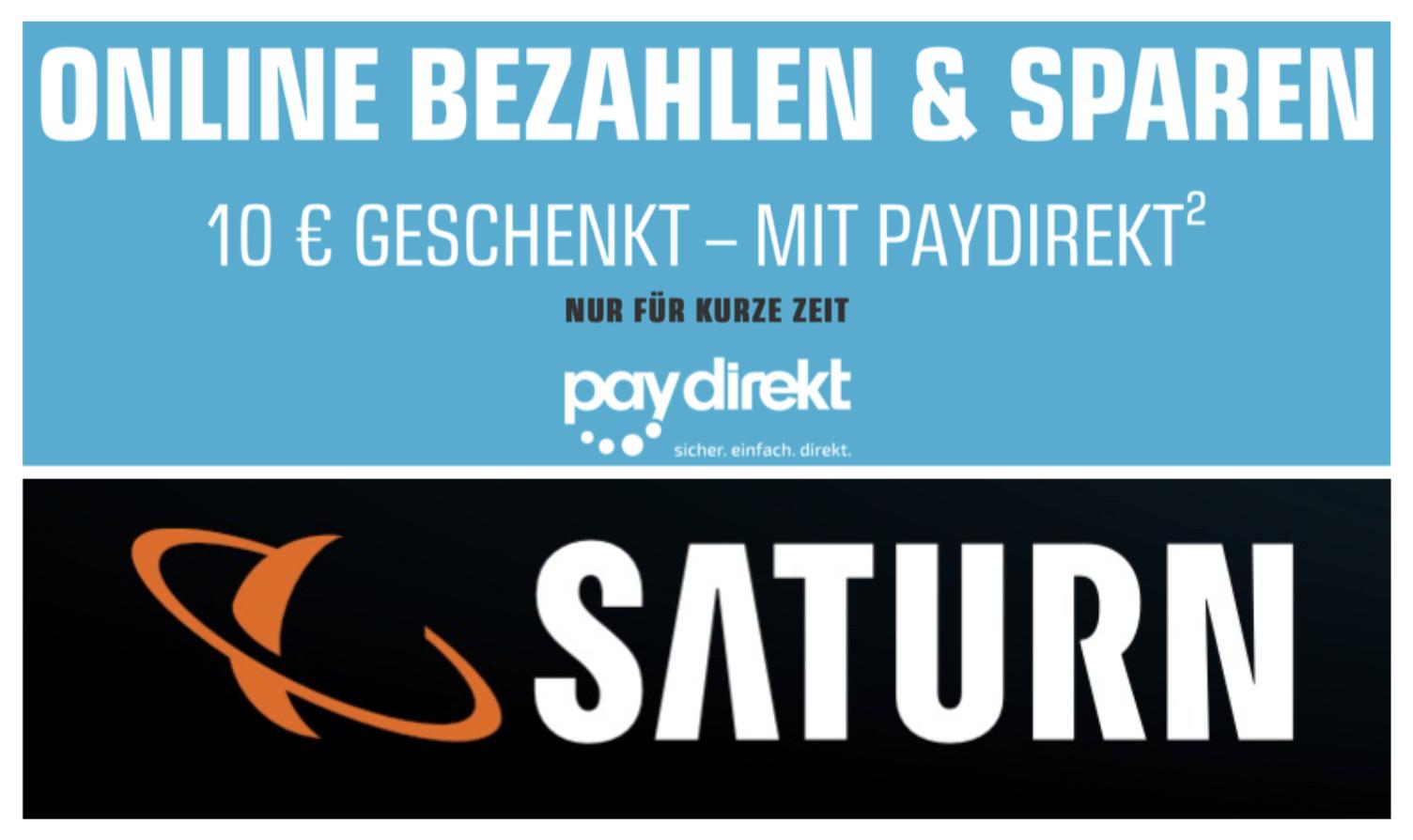 10€ Geschenkt ab 50€ MBW mit Paydirekt bei Saturn