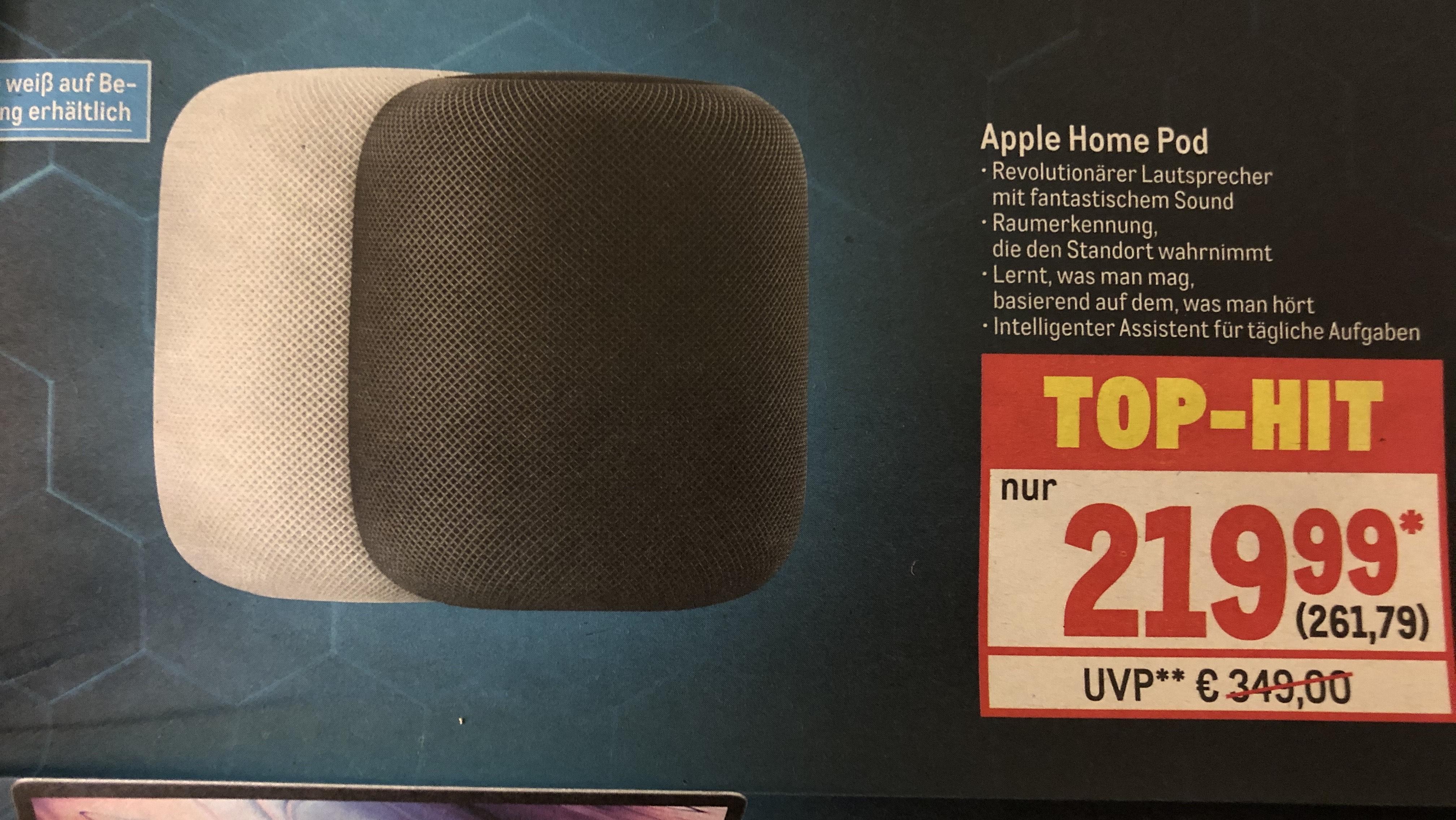 METRO Apple HomePod schwarz, weiß auf Bestellung