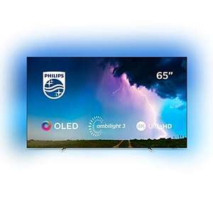 Philips Ambilight 65OLED754/12 164 cm (65 Zoll) OLED Smart TV mit Alexa-Integration (4K UHD, Dolby Vision, Dolby Atmos, HDR 10+)