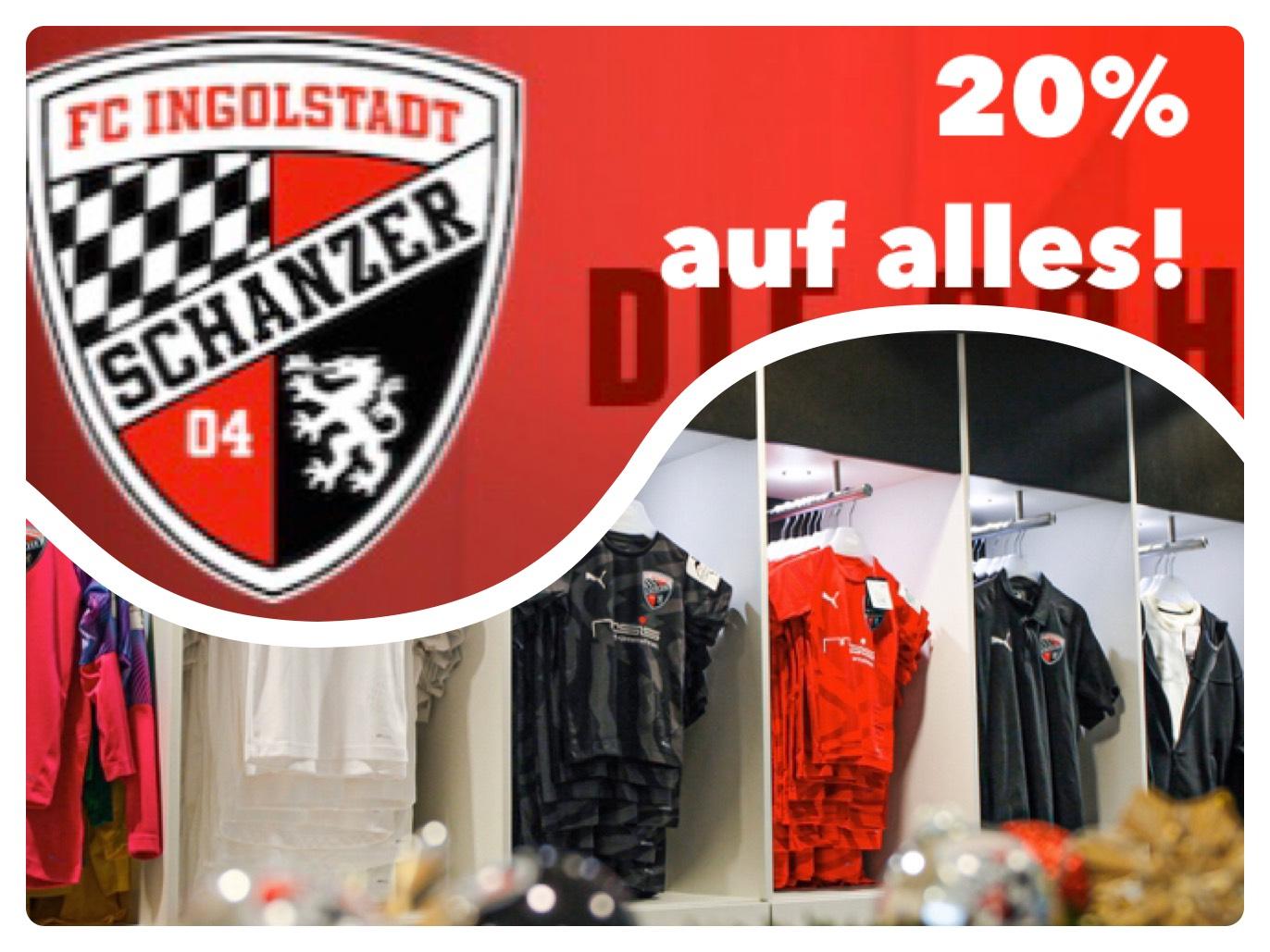 [Lokal Ingolstadt] 20% auf alles im FC Ingolstadt Shop in der Innenstadt
