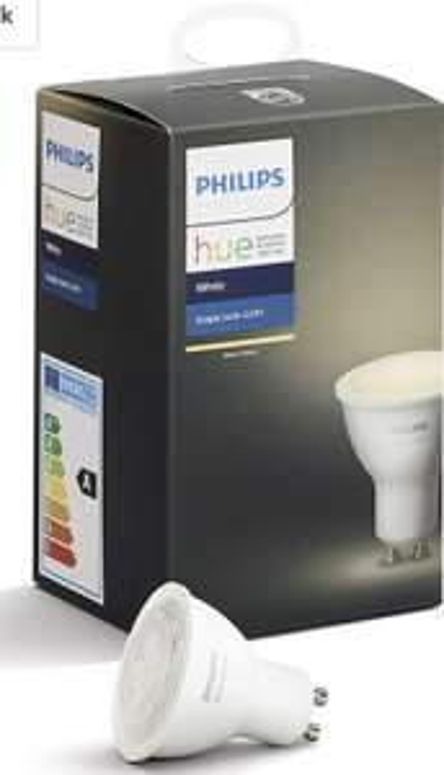 Philips Hue White GU10 LED 1-er Spot, dimmbar, warmweißes Licht,steuerbar via App, kompatibel mit Amazon Alexa (Echo, Echo Dot)