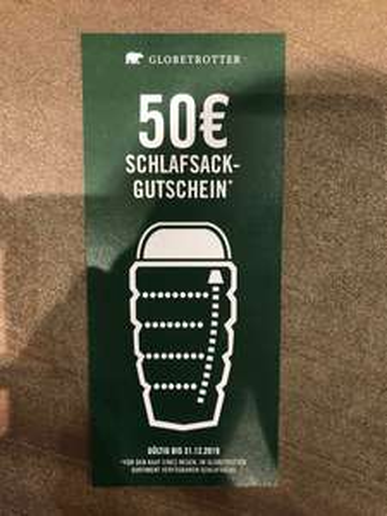[Globetrotter, lokal] 50 € Rabatt für einen neuen Schlafsack bei Spende des alten Schlafsacks