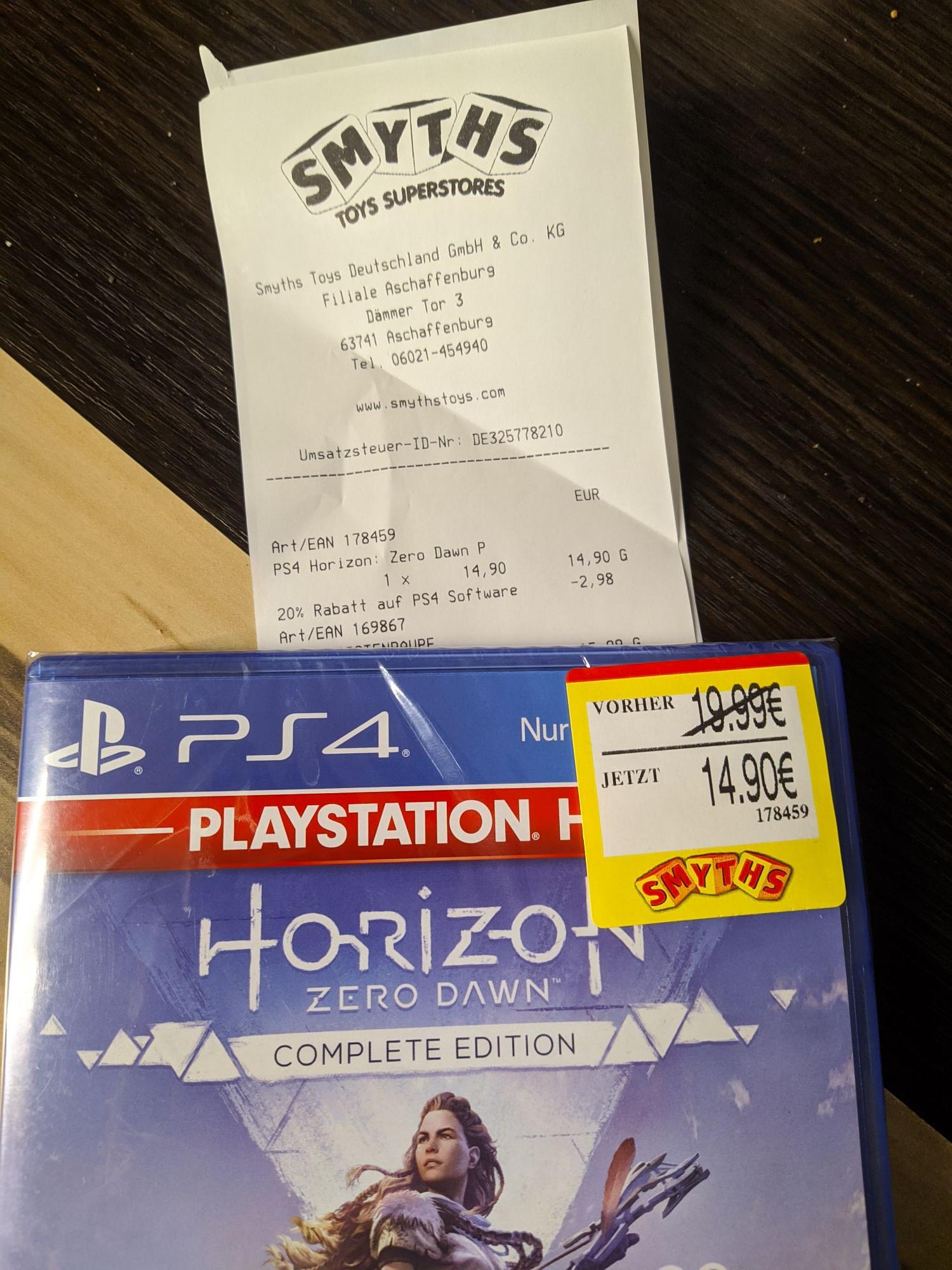 Lokal Smyths Toys Aschaffenburg, God of War 3 remastered, horizon zero dawn 11,92 - weitere PS4 Spiele verfügbar