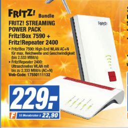 [Expert Technikmarkt-Gruppe] Fritz Box 7590 + Fritz Repeater 2400 für 229,-€
