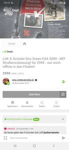 lokal Dierdorf - LIDL Doc Green ESA 5000 E-Scooter