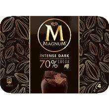 [real Lebensmittelshop] Magnum Intense Dark Familienpackung Eis, 4 x 100 ml