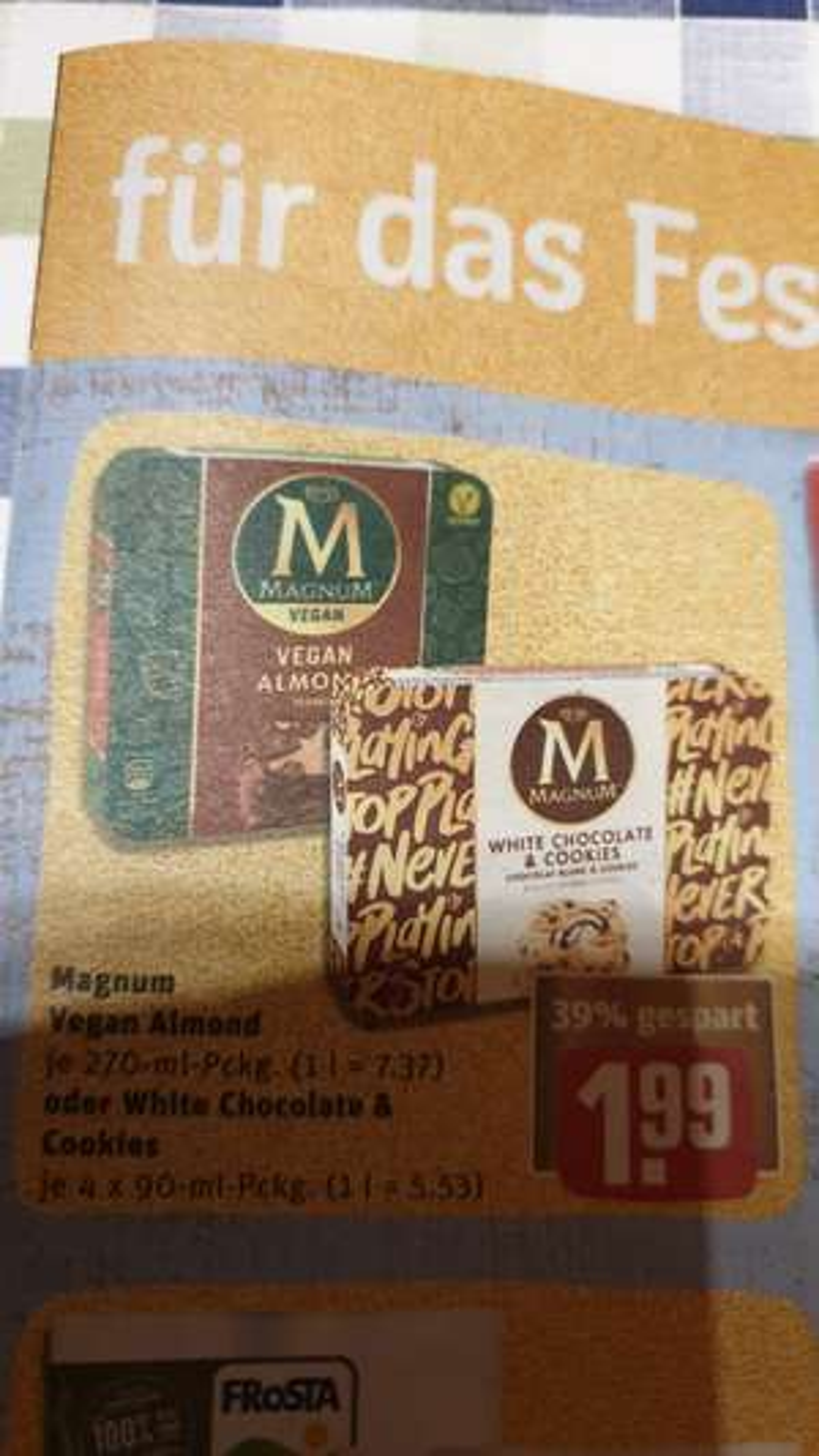 [Rewe] Magnum Vegan Almond / White Chocolate&Cookies