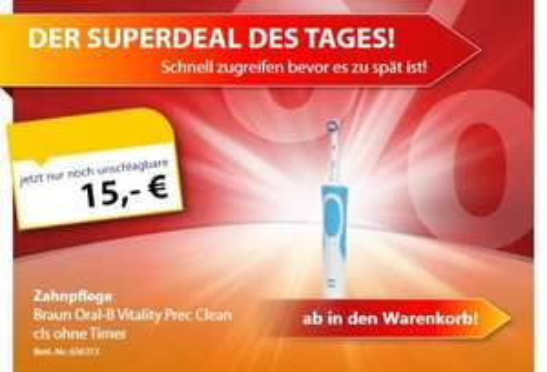 Oral-B Vitality Precision Clean 15 € inkl. Versand