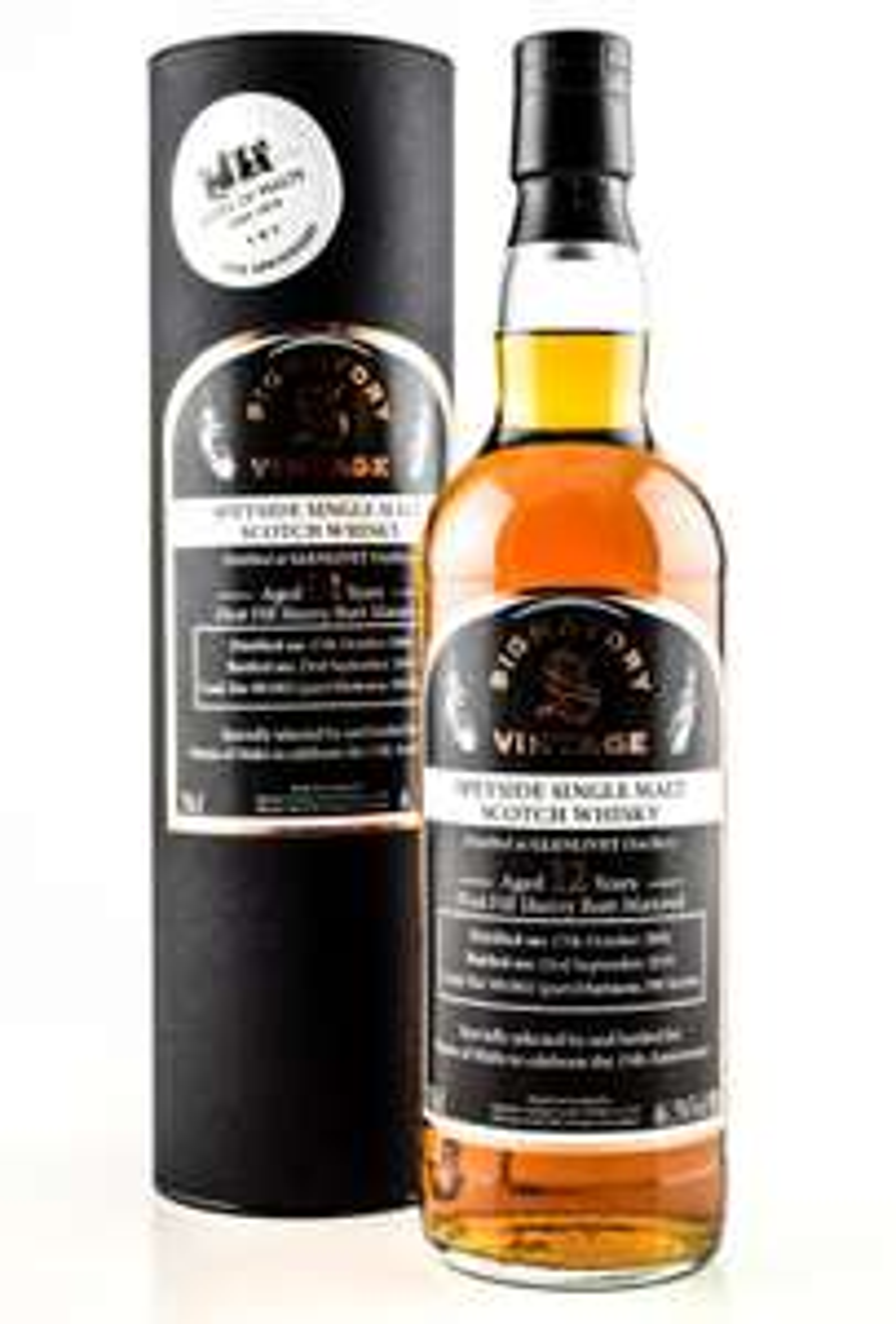 "[Home of Malts] Whisky ""Glenlivet 12 Jahre 1st-fill Sherry Butt 15th Anniversary"" Signatory 46,3%vol. 0,7l / limitierte Edition 390 Flaschen"