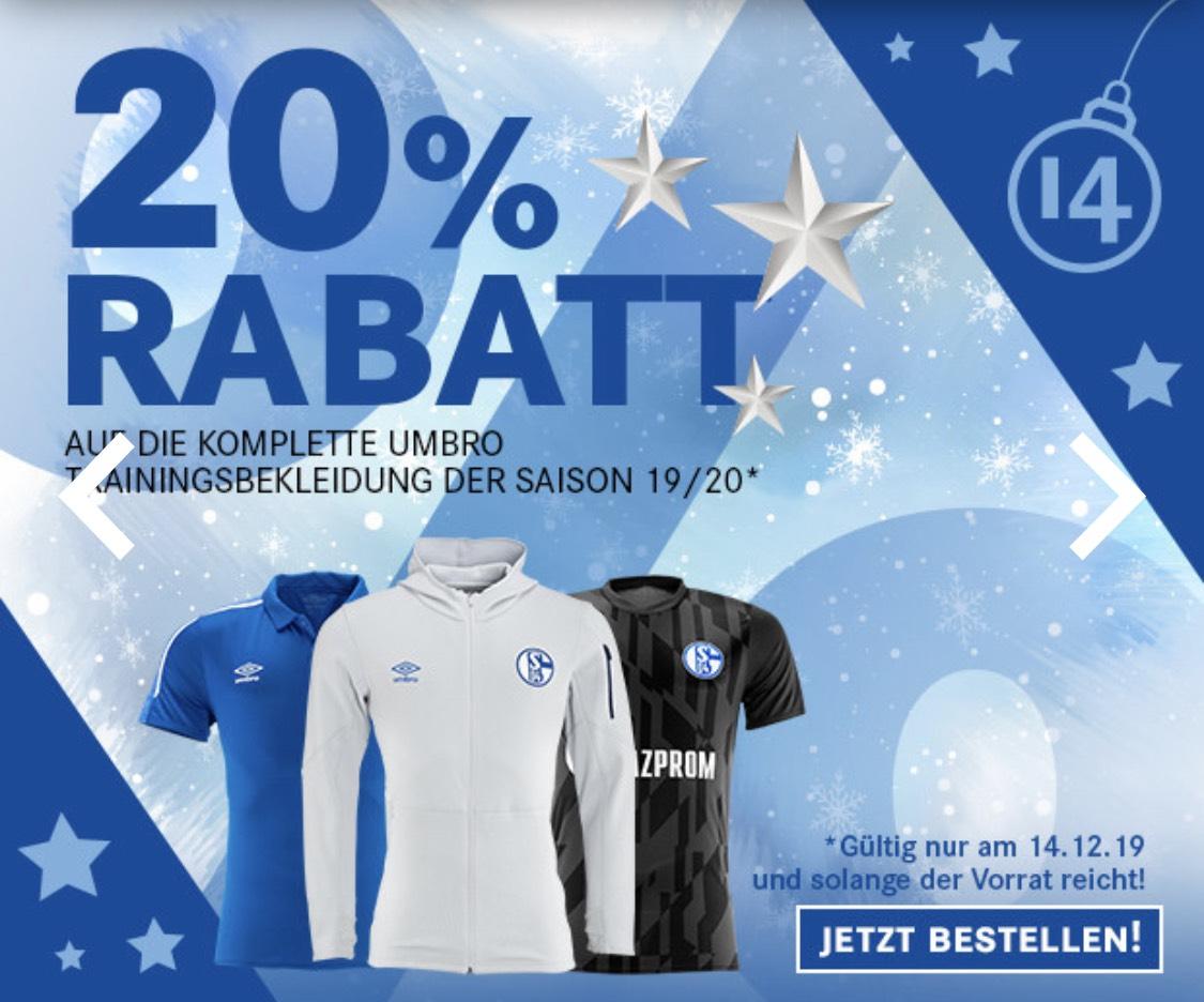 20% Rabatt auf Umbro Kleidung Schalke04