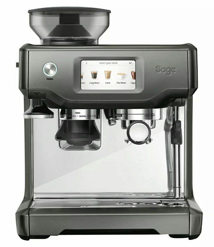 Sage Espresso Maschine The Barista Touch Smoked Hickory